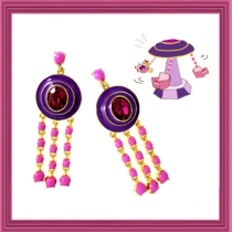 Dazzling Spinning Swing Earring - Pink