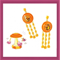Dazzling Spinning Swing Earring - Yellow